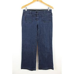 Theory Mason Texas Wide Leg Retro Jeans